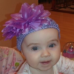 Other - 2/$12 pretty purple knit baby/toddler hat